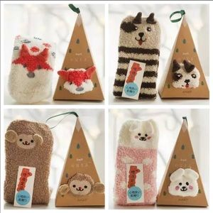 New! Bunny,Fox,Puppy & Monkey Sock Ornament Boxes!